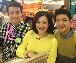 PHOTOS: KrisTV Food trip with Kris' teen barkada Darren and JK