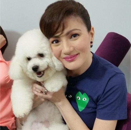 PHOTOS: Kris & the Dog of All Media Prada with Carmina & her cute pet Fifi at Richard Yap's Pet Shop